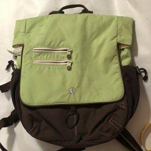 Sherpani Crossbody Bag Green Brown Backpack Conver